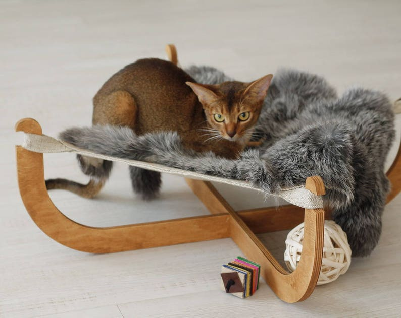 Cat Hammock Posh Pet Bed Lapin Cat Furniture Cat Beds Etsy