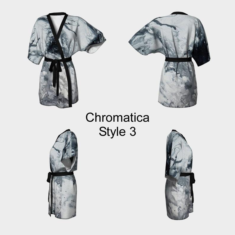 Fluid Art Knit Robe Spa Robe,Swimsuit Coverup Chiffon Artwork Bride Robe Dark Pour Painting Bridesmaid Robe Coverup Kimono Robe