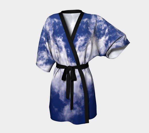 Abstract Coverup Floral Spa Robe Bride Robe Bridesmaid Robe Robe Art Swimsuit Coverup Artwork Kimono Robe Chiffon Sunset Flowers