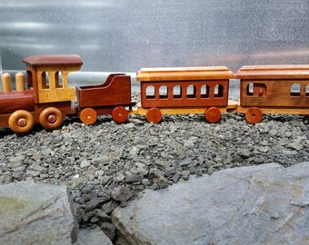 Wood Train DEPOSIT ONLY 4 piece made for you