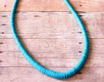 Turquoise Graduated Heishi Beads - STONE 024