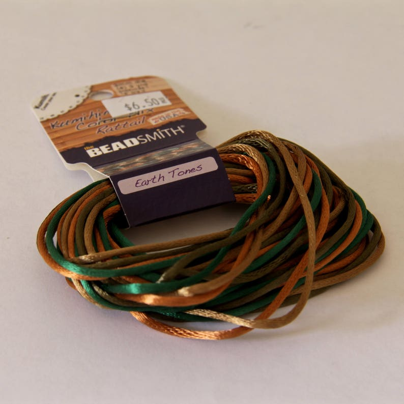 Earth Tones Satin Rattail Cord STR 086