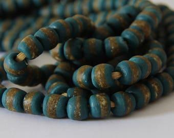 Teal Kente Beads - AG 120