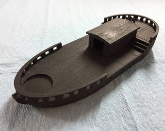 3D Printed Small Runabout Boat for RPG Games