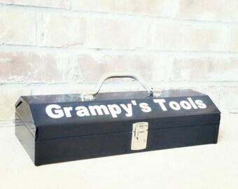 Personalized Toolbox, Custom Tool Box, Man Gift, Boys Tool Box, Gift for him,  Kids tool box, metal tool box, keepsake box, tool chest, SML