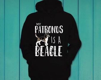 My patronus is a beagle funny hoodie hooded sweatshirt