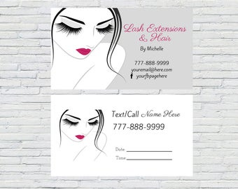 makeup artist business card lashes business card eyelashes business cards direct sales business card calling card consultant card - Eyelash Business Cards