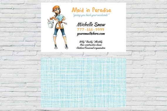 Housekeeper Business Card Personalized Business Card Etsy