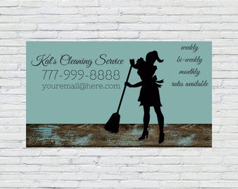 Rustic Housekeeping Business Card, Cleaning Business Card, Maid Business Card, Cleaning Lady Business Card, Cleaners Business Card, Custom