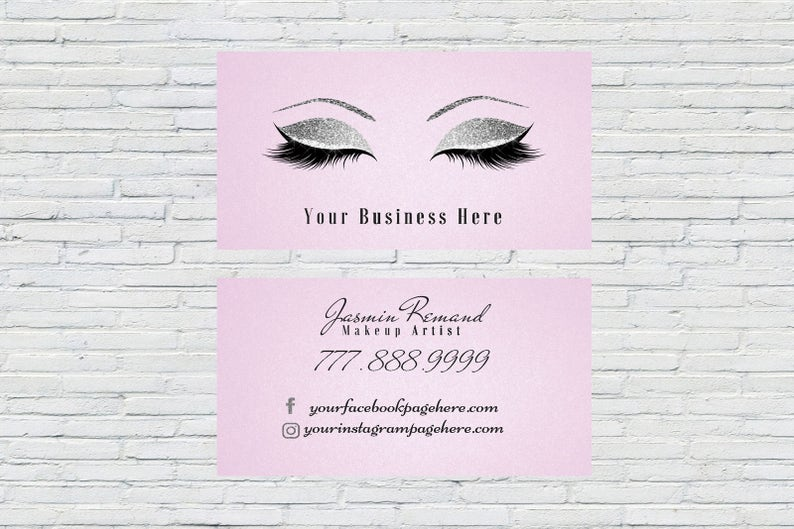 Cils Lash Artiste Carte De Visite Extensions Make Up