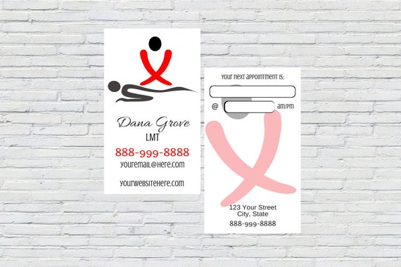 Massage therapist lmt business card personalized colourmoves