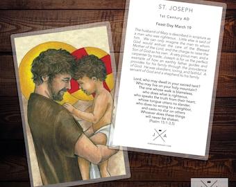 Saint Joseph Prayer Card