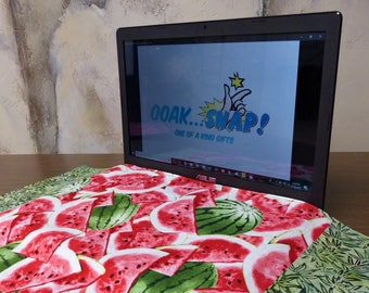 Watermelon Patch Keyboard Coverlet Reversible