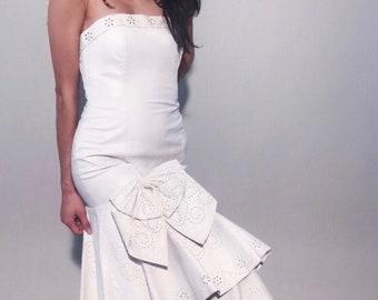 Eyelet wedding dress | Etsy