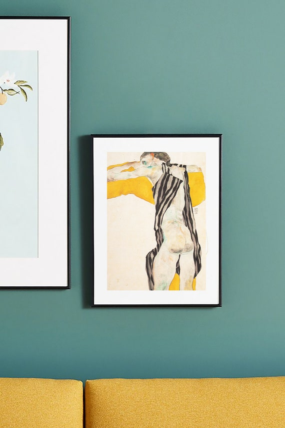card Instant Digital Art Wallpaper Vintage Home Decor print Egon Schiele Printable download Dancer Girl Printable poster