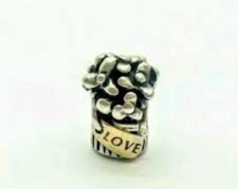 f2cb4f0e8 Pandora Charms, Love Bouquet Charm, Love Charm,Floral Charm, Silver charms,  Authentic