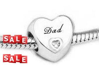 authentic Pandora Dad s Love Charm 1b315f06e25b