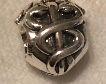 6acdb2334 Pandora Life Saver Medical Emblem Charm # 791042 Retired