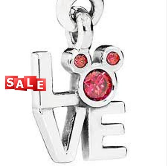 81818be79 Pandora Disney Mickey Minnie Love Charm Bead Dangle Gift for | Etsy