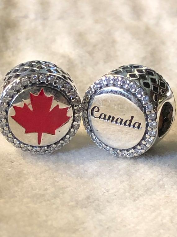 Pandora Charms, Maple Leaf Canada Charm, Silver Charms