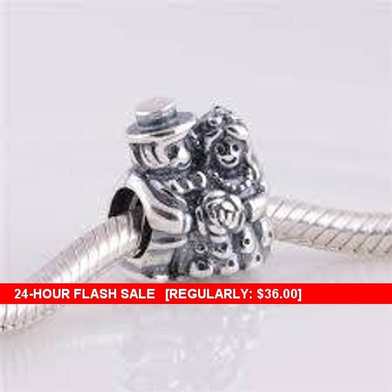 109fc8a38 ... low cost authentic pandora mr. mrs. bride and groom charm bead 0954f  7808f ...