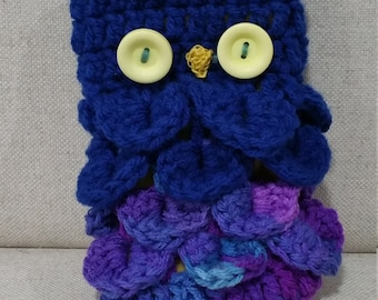 Owl Purse - Blue Head with Purple and Blue Body