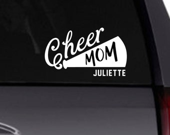 Cheer Mom Vanity Front License Plate Tag KCE350