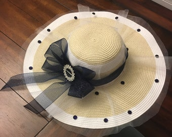 Navy Derby Hat