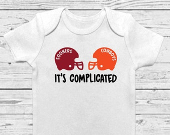 9195ed89e House Divided OU OSU - House Divided Onesie- House Divided Sooners -  Oklahoma Baby - House Divided Cowboys - Sooner Baby