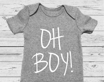 OH BOY! - Gender Announcement - Gender Reveal - Gender Onesie - Boy Onesie - Baby Reveal - Baby Boy - Baby Boy Onesie - Baby Boy Outfit