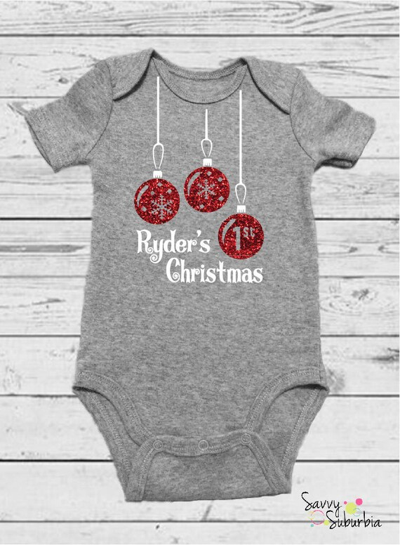 Baby Onesie / Babys First Christmas Onesie / Custom Christmas Onesie /  Baby\u0027s First Christmas / Baby Christmas Gift / Personalized Onesie