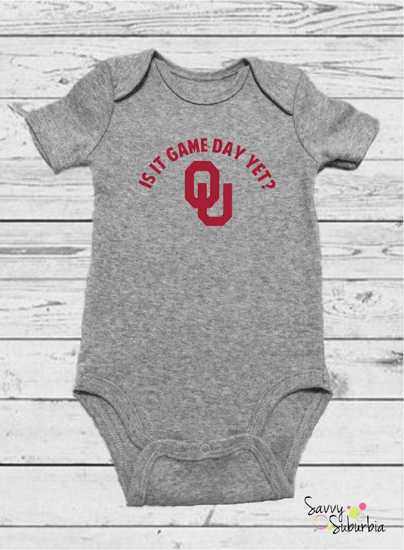 5383be09ad1 Baby Onesie   Game Day OU   University of Oklahoma Baby   OU