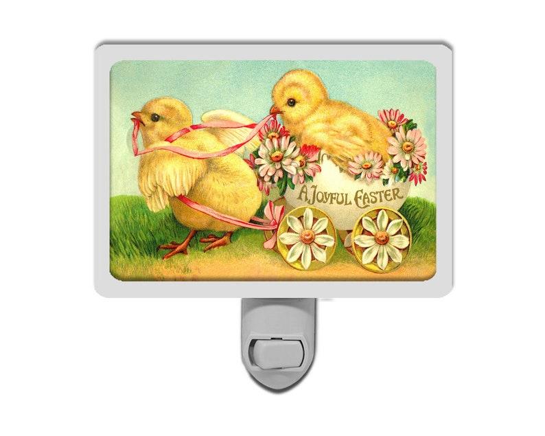 Decorative Lights Night Light Cute Joyful Easter Chicks Vintage Style Spring