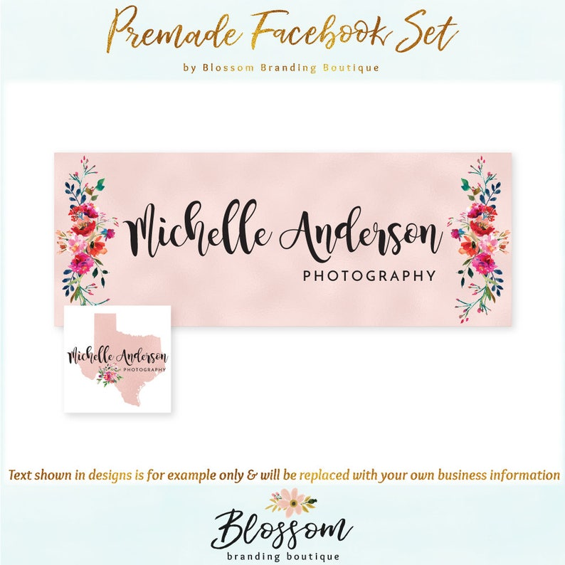 Texas Facebook Cover + Profile Image - Limited Edition! Coordinating Logo  Available! Perfect for Photographer, Travel Blogger + much more!