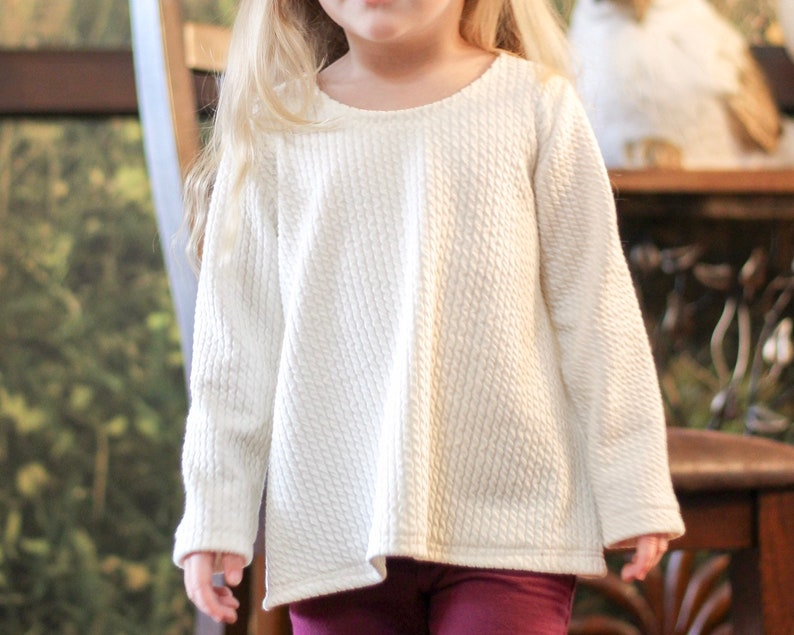27449b8fdbf1 Cable knit pullover sweater for baby toddler and kids. Off