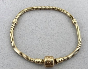 Pandora 14k Yellow Gold Charm Bracelet 7.0 Inches Solid Gold! FREE SHIPPING! 5a0adc13f