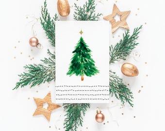 Oh Christmas Tree Card, Christmas Cards, Christmas Card Pack, Blank Christmas Cards, 4x6 Card, 4x6 Christmas Card