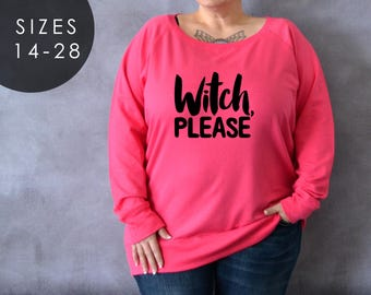 more colors plus size witch please shirt long sleeve halloween