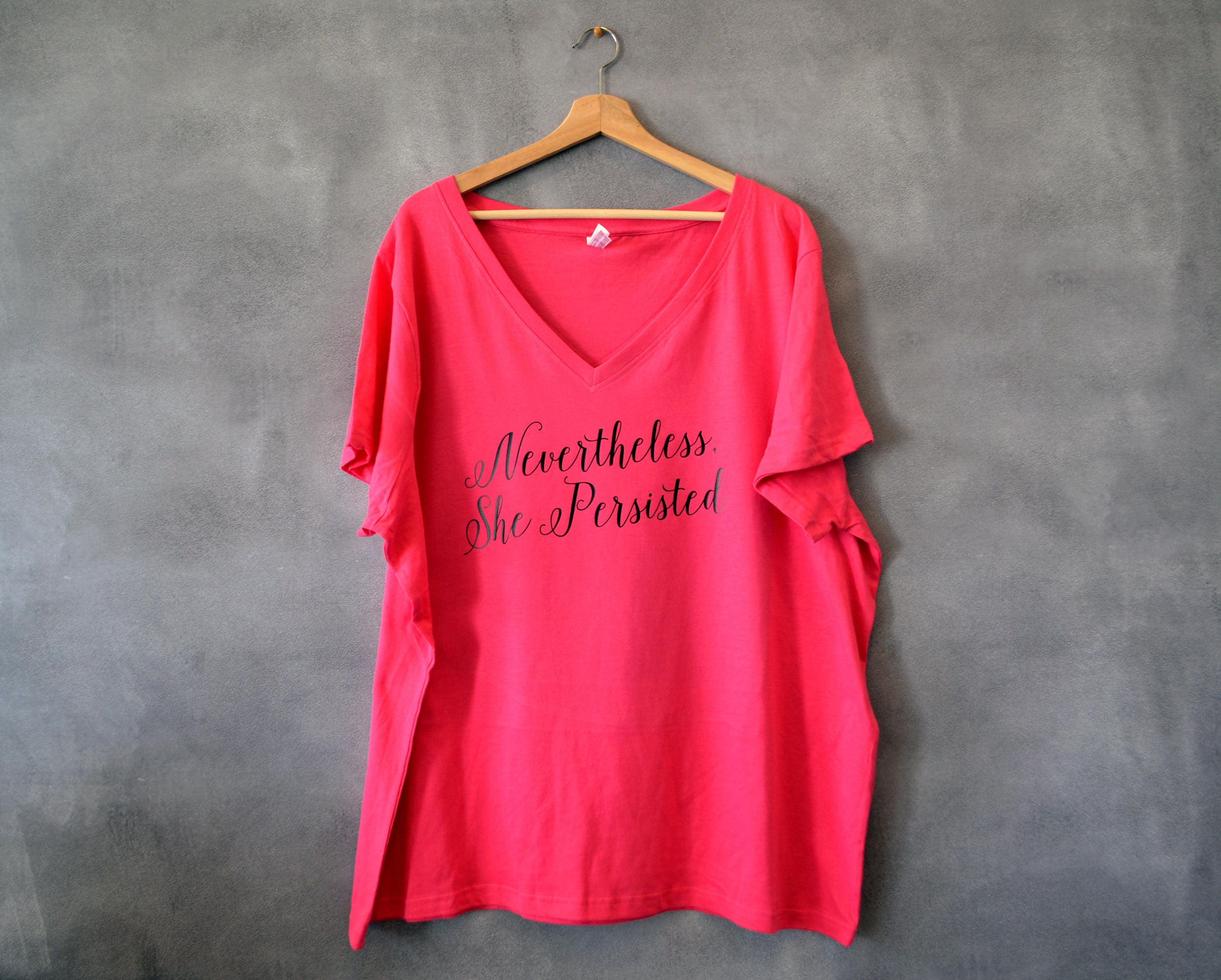 097cadd25e0 Nevertheless She Persisted V-Neck T-shirt Feminist Shirt