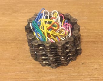Recycled Bike Chain Ring Dish