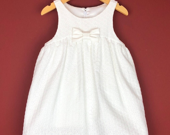 "The ""Play-Date Dress"" in White Embroidery."