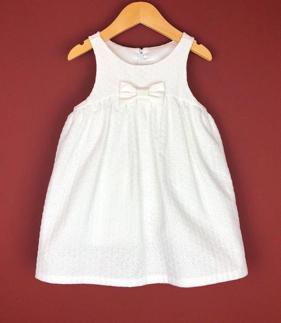 """The """"Play-Date Dress"""" in White Embroidery."""