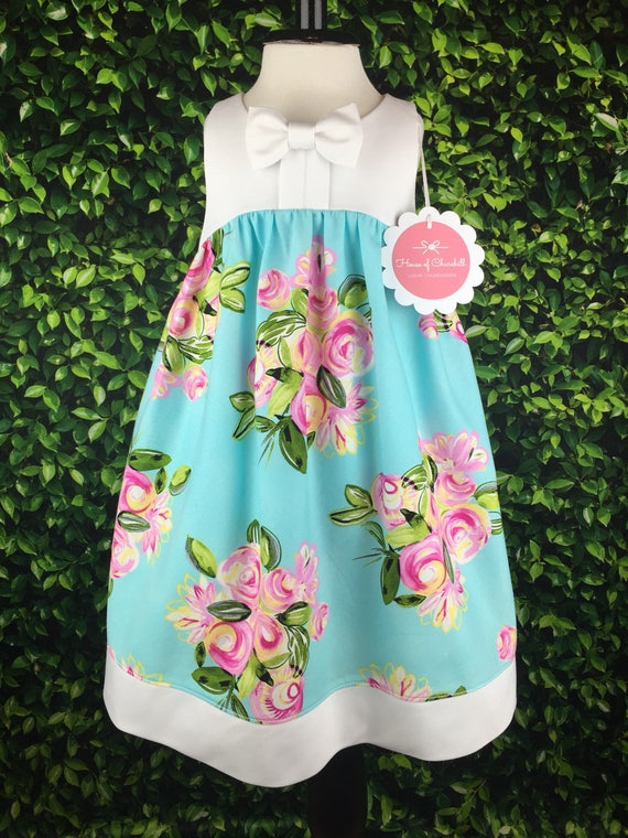 """The """"Bow Tie Dress"""" in Blue Floral"""