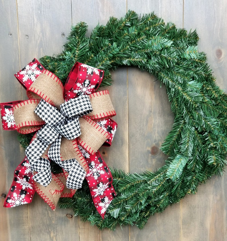 Buffalo Check Christmas Wreath.Buffalo Plaid Christmas Wreath Bow Country Christmas Lantern Bow Rustic Christmas Swag Bow Farmhouse Plaid Buffalo Check Holiday Bow