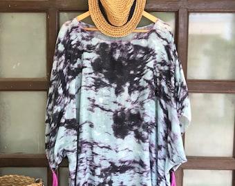 f4a96e1dc5926 Abstract print Cotton Tunic, beach coverup,Plus Size tunic,oversized tunic,plus  size cover up,beach caftan,tunika