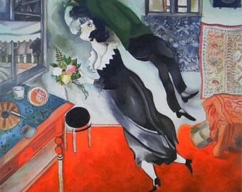 Copy of a picture of M. Chagall Birtday