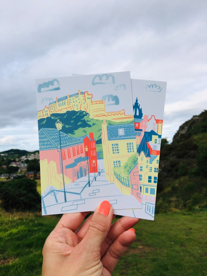 Pack of 6 Edinburgh Postcards