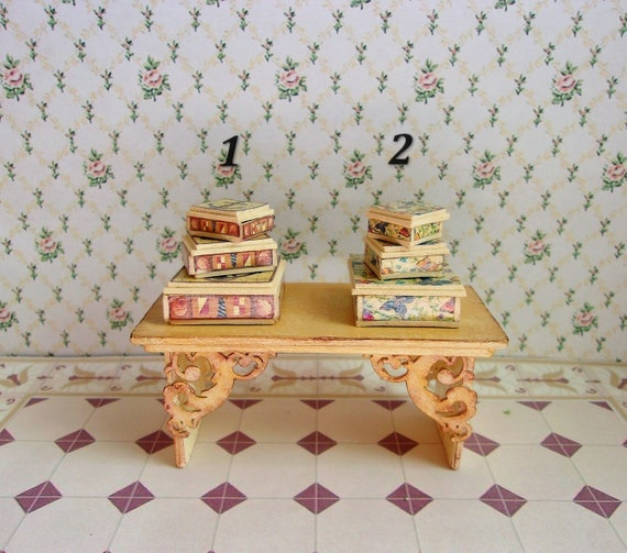 Big casket  Accessories for the doll house  Doll miniature  Dollhouse  1:12