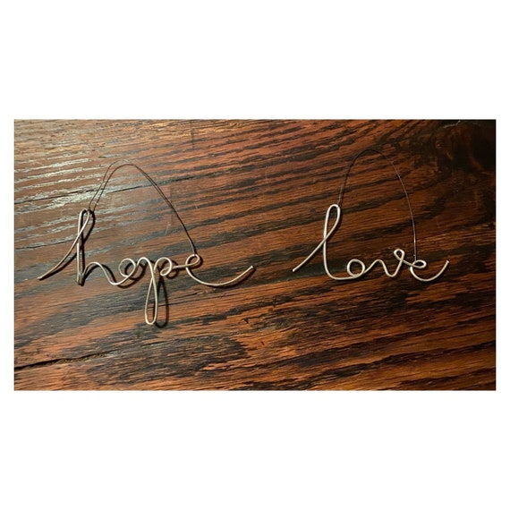 Hope and Love Christmas decorations