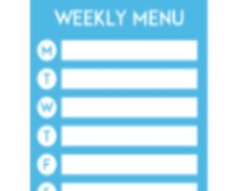Mini Sheet | Weekly Menu | Planner Sticker | Kikki-K | Happy Planner | Erin Condren